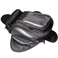 benzinli yakıt deposu toptan satış-Motosiklet tank çantası motosiklet yağ yakıt deposu çantası Manyetik Bisiklet eyer motosiklet çantası telefon için büyük ekran / GPS