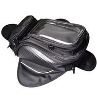 réservoir d'huile pour moto achat en gros de-Sac de réservoir de moto sac de réservoir de carburant d'huile de vélo Magnetic Bike selle sac de moto grand écran pour téléphone / GPS
