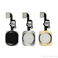 iphone home flex band großhandel-100 teile / los Für iphone 6 6g 6 plus Hauptknopf Key flex kabel band montage ersatz für iphone 6s 6s plus