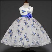 Wholesale lolita dress floor length resale online - Baby girl princess new spring Seasonal girl rose printed autumn Princess Dresses Baby Girls party Clothes