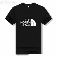temel siyah gömlekler toptan satış-Yaz Nefes Kısa Kollu Hipster Yüz Kuzey Erkekler için Tee T-Shirt Yuvarlak Boyun Düz Renk Pamuk Temel T Gömlek Siyah Beyaz MensTops