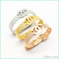 mejor pulsera de oro para las mujeres al por mayor-C Pulsera de diseñador más vendida para mujeres Moda de alta calidad para damas Joyas de lujo con oro Rosa Oro Plata colores Envío directo