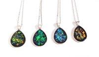 ingrosso lusso della porcellana della collana-collana di cristallo della resina di fatti a mano gioielli ciondolo della moda di lusso scintilla goccia d'acqua prezzo a buon mercato dalla Cina