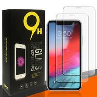 bildschirmschoner großhandel-2019 neueste displayschutzfolie für sam a20 a30 a40 a50 a60 gehärtetes glas für iphone 11 pro x xr xs max für lg huawei mate 20 mit retailbox