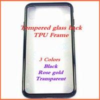 preços iphone iphone venda por atacado-1000 pcs Preço de Fábrica Transparen Preto Rosa de ouro de Vidro Temperado TPU phone case para iphone 7 7 p 8 8 p x xs xr xs max