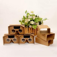 Wholesale google vr online - II Google Cardboard D DIY D glasses VR boxes Virtual Reality Viewing google Version Novelty Toys Items AAA1637
