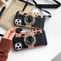 Wholesale plastic camera case for sale - Group buy Vintage camera with lanyard Mobile phone shell for iPhone Pro Pro Max X XS Max XR Plus s Plus case