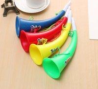 Wholesale horn noise resale online - 25cm Cheer Horn Football Fan Cheering Horns Plastic Trumpet Loudspeaker Noise Maker Party Supplies
