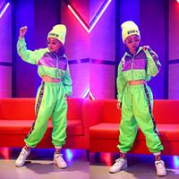 ingrosso hip hop si adatta alle ragazze-Hip Hop Dance per bambini ragazze di usura del jazz moderno Costumi Danza fluorescenza abbigliamento Abiti Costumi Bambini fase Outfits