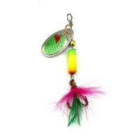 isca spinner achat en gros de-HENGJIA 1pcs 6.3cm 3.5g Cuillère Spinner Leurres De Pêche En Métal Rotation Paillettes Isca Artificielle Pesca Tackle