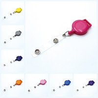Wholesale clips for keychains for sale - Group buy Retractable Badge Holder Key Ring Reel Clip ID Badges Candy Color Convenient for School Office Company Supplies Stationery M445Y