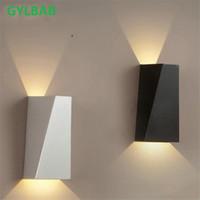 sanat projeleri toptan satış-6 W LED alüminyum yıkama duvar ışık gece demiryolu projesi Kare atış açısı yatak odası duvar lambası sanat otel 110 v 220 v COB ruh