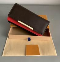 ingrosso carte rosse-libera shpping inferiori rosse del supporto all'ingrosso della carta lunga del raccoglitore della signora multicolore progettista portamonete box donne originali classica tasca con cerniera