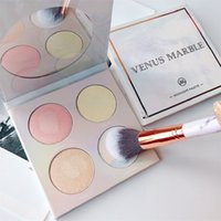 Wholesale mother pearl ship for sale - Group buy New Makeup Venus Marble Colors Contouring Highlighter Kit Pearl Mother Color Brighten Highlighter Palette