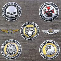 Wholesale metal animal decorations resale online - 3D Metal Decal Sticker Pad Motorbike Motorcycle Motor Accessories Car Decoration Emblem Badge Gas Fuel Tank Stickers For Harley High Quality