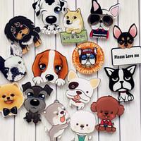 perro imán al por mayor-Mascota perro imán de nevera de alta calidad decoración del hogar de dibujos animados venta caliente acrílico moda linda pegatina magnética