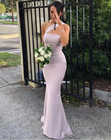 Wholesale 2020 New Cheap African Mermaid Bridesmaid Dresses For Weddings Satin One Shoulder Sleeveless Floor Length Long Formal Maid of Honor Gowns