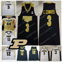 Wholesale basketball jersey numbers for sale - Group buy Custom Purdue Boilermaker Basketball Any Number Name Carsen Edwards Ryan Cline Matt Haarms black white Gold Men Youth Kid Jerseys