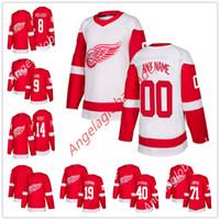 Men s Detroit Red Wings 71 Dylan Larkin Justin Abdelkader Gordie Howe Pavel  Datsyuk Henrik Zetterberg Steve Yzerman Gustav Nyquist Jersey 55b731b07