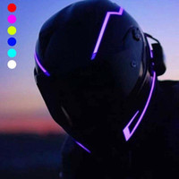 Wholesale helmet motorbikes resale online - 2020 New Motorcycle Helmet Light Strip LED DIY Helmet Decoration LED Light Motorbike Safety Reflective Strip Modification