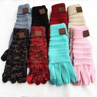Wholesale hot fingers mittens for sale - Group buy 9 Styles Touch Screen Gloves Hot Winter Warm Knitted Gloves For Unisex Unisex Full Finger Mittens Christmas Party Favor Gift XD21462