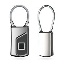 système d'ouverture de porte achat en gros de-Smart Fingerprint Padlock Safe USB Charge Rechargeable Serrure de porte étanche Anti-Vol cadenas de sécurité pour valises