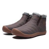 резиновая обувь для мужчин оптовых-2018 новая мужская мода нескользящей сгущает лодыжки снегоступы открытый водонепроницаемый износ резиновые подошвы теплая обувь плюс размер ЕС 38-46 Оптовая торговля розничная