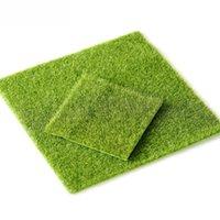 ingrosso green moss-Micro paesaggio decorazione fai da te mini fata giardino simulazione piante artificiale finto muschio decorativo prato tappeto erboso erba verde