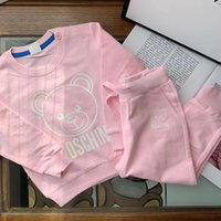 conjuntos de chándal niño al por mayor-2 colores Autumn Girl boys Conjuntos de ropa 100% algodón Chándal para niños pequeños Trajes deportivos Trajes para niños Ropa