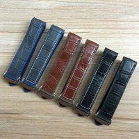 синие браслеты оптовых-20мм 22мм темно-синий черный коричневый резиновый с кожаным ремешком для часов ремешок для планеты океан 300 браслет Speedmaster