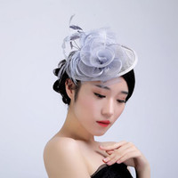 Wholesale elegant party supply wedding props for sale - Group buy 2019 Newest Bridal Headdress Wedding Party Hat Elegant Women Mesh Hat Photo Props Wedding Party Supplies SH190923