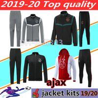 fußballtraining gesetzt großhandel-2019 2020 Ajax Fußball Trikots Jacke Trainingsanzug Chandal Holland Survetement 19 20 Ajax Fußball Jacke Training Niederlande Sportswear Set