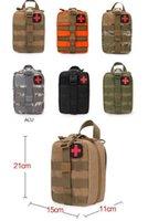 ingrosso corsi di pronto soccorso-Sacchetto di emergenza durevole Sacchetto Kit di pronto soccorso medico tattico Pacchetto di vita militare Sacchetto di campeggio tattico Molle custodia da campeggio esterna