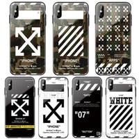 sınırlı iphone toptan satış-1 Adet Moda Sınırlı Kamuflaj cam + iphone 11 pro maksimum 6 6S S için yumuşak silikon kapak durumda artı 7 7plus 8 8plus X XR XS MAX telefon coque