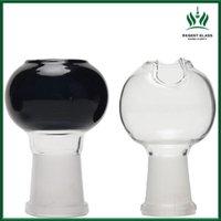 18.8mm schwarze schüsseln großhandel-Gllass Schüssel 2,4 Zoll schwarz Klar 14.4mm 18.8mm weiblich Bowl 14mm Glasschüssel für Glas Bongs Ölbrenner Pipes Dabber