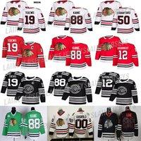 patrick kane jersey venda por atacado-Chicago Blackhawks camisa 88 Patrick Kane 19 Toews 2 Duncan Keith 12 Alex Debrincat 50 Corey Crawford 00 Clark Griswold Hockey Jerseys