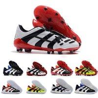 calzado deportivo para hombre al por mayor-2019 zapatos Predator Acelerador de Electricidad FG fútbol para hombre de las grapas PREDATOR acelerador TR zapatos de diseño Grapas de Football Boots Deportes