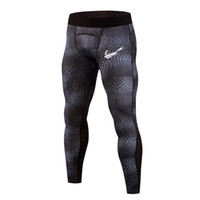 mesh strumpfhosen männer großhandel-Herren-Netzstrumpfhose mit Stretch-Print, super gute Laufhose, schnell trocknende, atmungsaktive Fitness-Bodybuilding-Hose