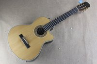 Wholesale musical ebony fingerboard resale online - Musical instruments fnishing acoustic electric guitar Custom Chaylor Ebony fingerboard with fishmen EQ