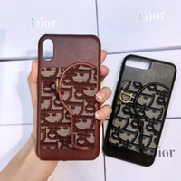 Wholesale phone pouch cloth online – custom Top Luxury Designer Phone Case Cloth Leather Card Holder Metal Tag Cellphone Back Cover for iphone x xs xr xsmax plus plus plus