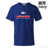 neue t-shirt design farbe männer großhandel-2019 neue Mode atmungsaktiv Kurzarm Casual T-Shirt für T-Shirts Multi-Color-Rundhals Männer