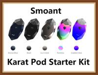 магниты оптовых-Smoant карат Pod Starter Kit 370 мАч аккумулятор с 2 мл Vape Pen картриджи инновационные 1.3 ом кварцевые катушки Магнит соединение 100% оригинал