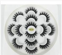 extensions de cils synthétiques achat en gros de-Le plus récent 7 Paires 3D Cils main naturelle à long Faux cils Mink femmes Maquillage Faux cils Extensions Outils Maquiagem Drop Shipping