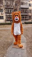 mascote rei venda por atacado-Dia das bruxas Leão Marrom Traje Da Mascote Dos Desenhos Animados de Alta Qualidade Leão Rei Animal Anime personagem de natal Trajes de Festa de Carnaval de Natal