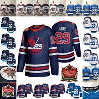 jersey jatos juventude venda por atacado-2019 Heritage clássico 29 Patrik Laine Mark Scheifele Blake Wheeler Dustin Byfuglien Início Alternate Mens Juventude Lady Kid Winnipeg Jets Jerseys