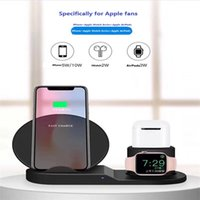 Wholesale apple watch chargers resale online - 3 in Silicone Charging Stand for Apple Watch iPhone and AirPods Charger Stand Dock Station for Apple iWatch Series AirPods iPhone