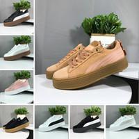 damen samt großhandel-2019 Smash Rihanna Riri Fenty Plattform SD 5 Creeper Velvet Pack Burgund Schwarz Grau Farbe Marke Ladies Classic Casual Shoes 36-39