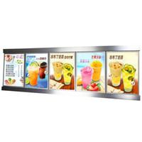 (5 Graphics column) Illuminated Poster Frame, Backlit Menu Led Sign Lightbox Display for Restaurant,Takeaway