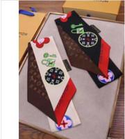 ingrosso sciarpe multiuso-2019 Sciarpa firmata stile sciarpa moda piccola sciarpa donna sciarpa moda multiuso fascia per capelli marca borsa decorazione nastro
