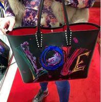 ingrosso borse rosse grandi-2019 bcabata designer borse totes fondo rosso di lusso borsa composita famoso marchio borsa di cuoio genuino grandi borse cv1014